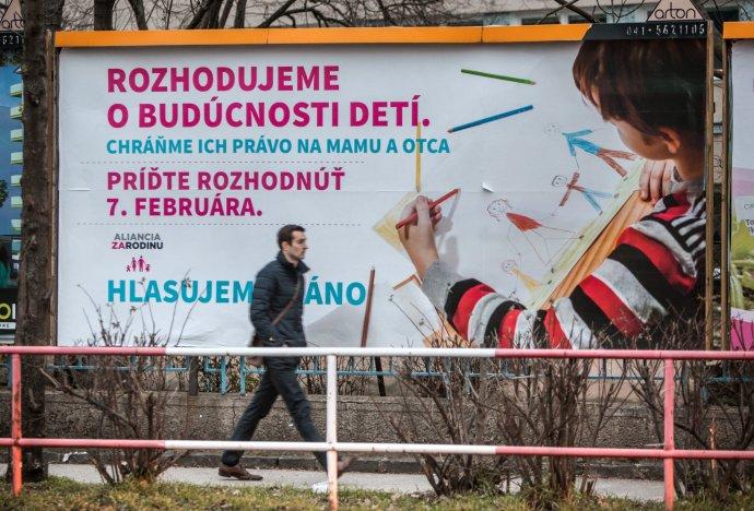 Bilbord Aliancie za rodinu. Foto N - Tomáš Benedikovič