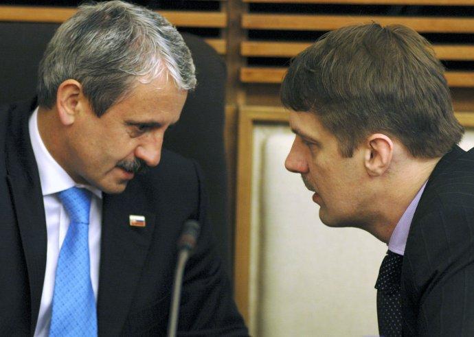 Mikuláš Dzurinda a Jirko Malchárek v roku 2006