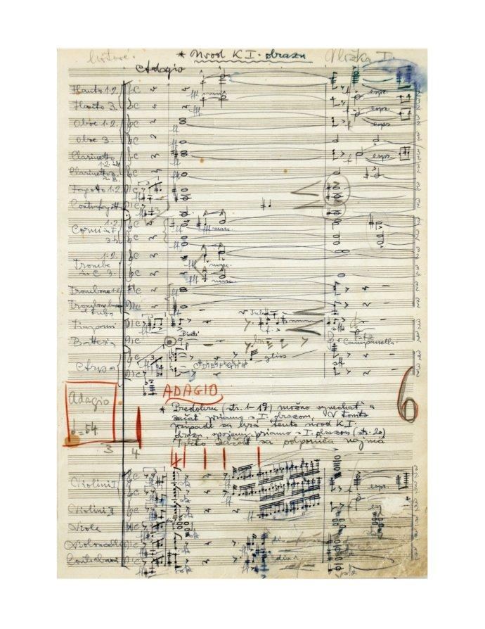 Eugen Suchoň: autograf opery Krútňava, 1941 - 45. Slovenské národné múzeum.