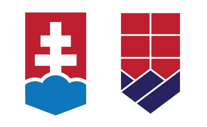 Dve možnosti, akoby mohla vyzerať štylizácia štátneho znaku, z ktorej by vychádzali logá pre úrady.