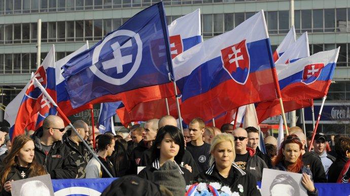Nacionalisti si vznik Slovenské štátu pravidelne pripomínajú. Ilustračné foto - TASR