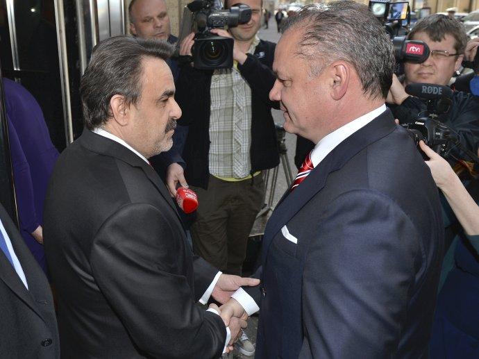 Jaromír Čižnár a Andrej Kiska. Foto – TASR