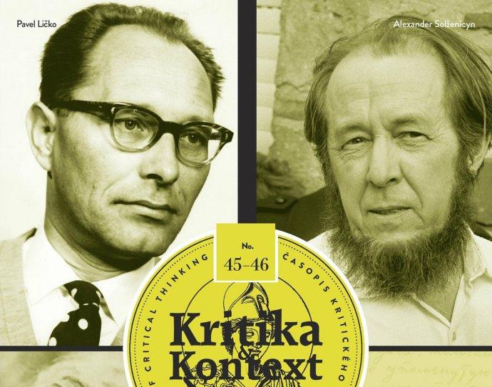 Pavel Ličko a a Alexander Solženicyn na obálke K&K.