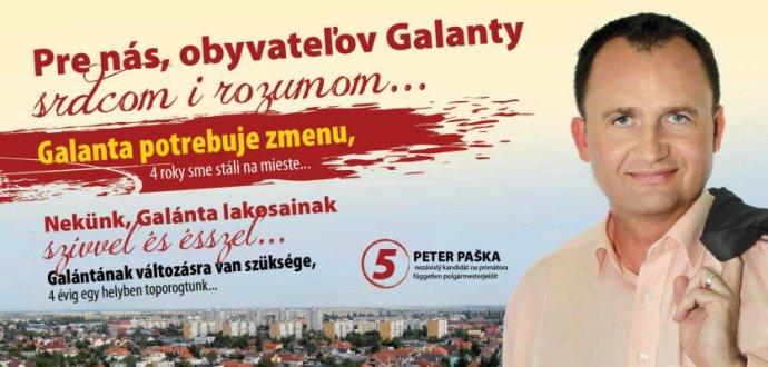 Predvolebný plagát Petra Pašku. Smer sa k nemu prihlásil až po voľbách. Reprofoto - N