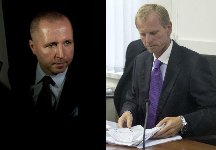 Do väzenia ide bývalý poradca premiérky Ivety Radičovej Martin Novotný (vľavo) a aj bývalý veľvyslanec v Keni Igor Liška. Foto - TASR