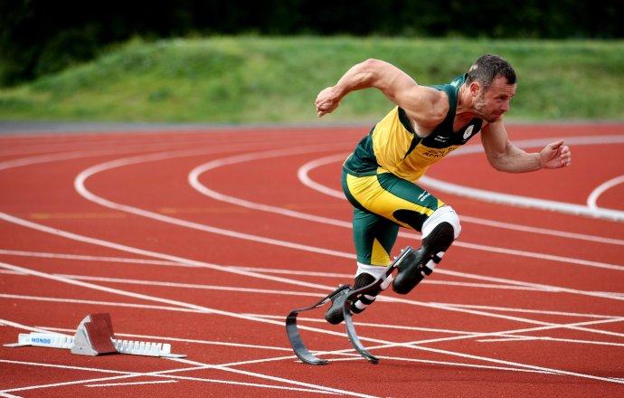 Pistorius súťažil na olympiáde v Londýne v roku 2012 so zdravými bežcami, na 400 metrov skončil v semifinále. Foto – TASR/AP