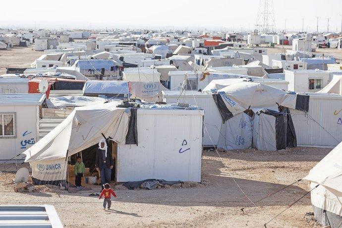 Utečenecký tábor Zaatari je od hlavného mesta Ammán vzdialený sto kilometrov. Foto – NRC/Christopher Herwig