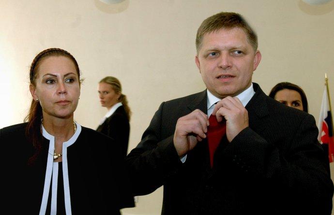 Predsedníčka Ústavného súdu Ivetta Macejková a Robert Fico. Foto - TASR