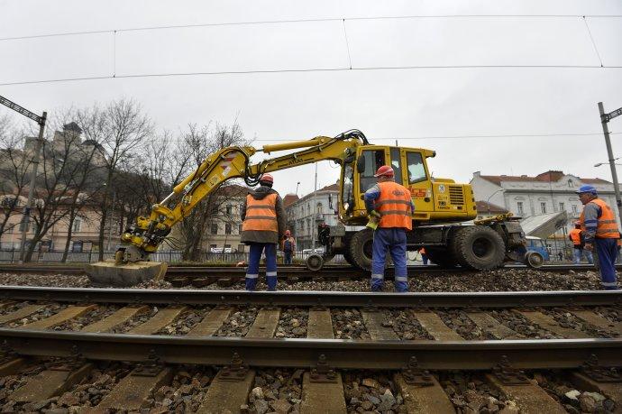 Modernizácia železničnej trate. Foto - TASR