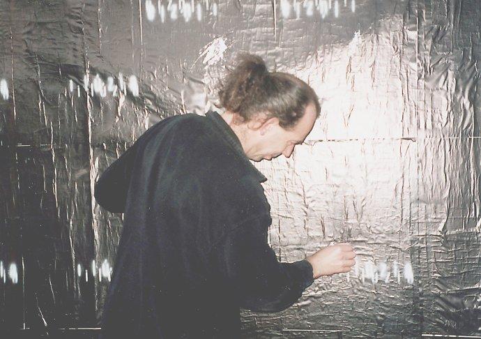 Milan Mikula: Divadelná Nitra 1999, plagát, ofset