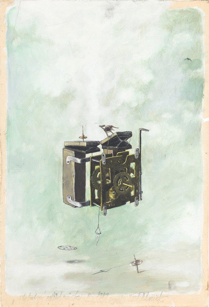 Slobodný zelený priestor. Maľba kombinovanou technikou, 1989. Foto – A. Šakový