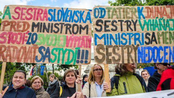 Sestry za vyššie platy viackrát protestovali. Foto – TASR f3498b7d0cf