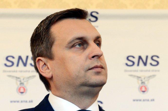 Predseda SNS, kapitán v zálohe Andrej Danko. Foto - TASR