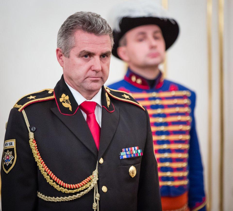 Policajný prezident Tibor Gašpar počas menovania za generála v roku 2015. foto N – Tomáš Benedikovič