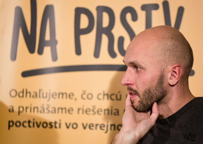 Michal Truban počas debaty N o IT. Foto N – Tomáš Benedikovič