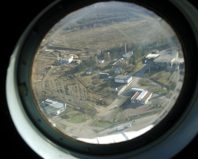 Kontrola slovensko-ukrajinskej hranice z vrtuľníka. Foto – archív TASR