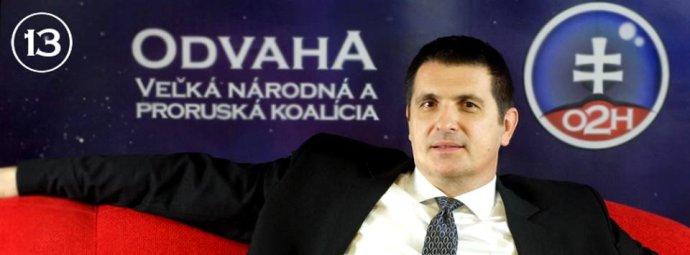 Ján Pavliš, líder strany Odvaha – Veľká národná a proruská koalícia