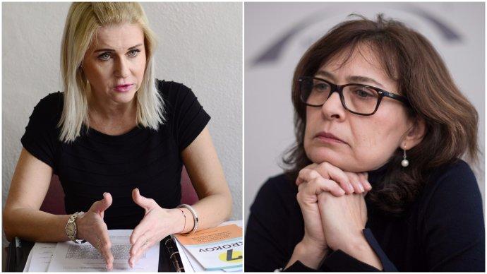 Monika Jankovská (Smer) a Lucia Žitňanská (Most-Híd). Foto - TASR