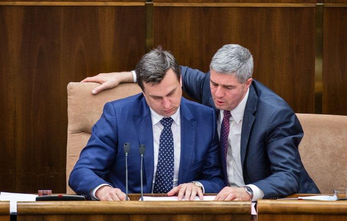 Predseda Národnej rady Andrej Danko a podpredseda Béla Bugár. Foto N – Tomáš Benedikovič
