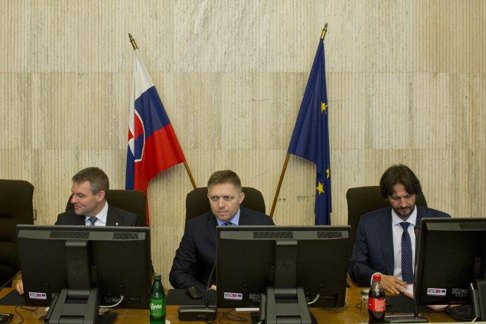 Premiér Fico vedie zasadanie vlády. Foto – TASR