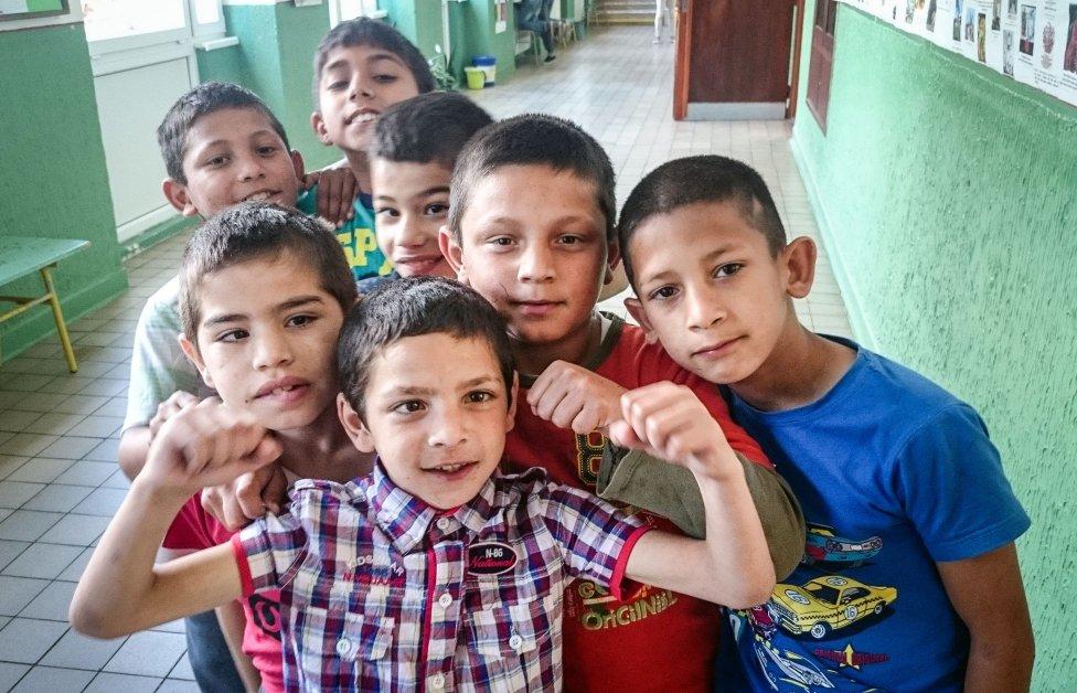 Deti v špeciálnej škole v Hanušovciach nad Topľou. Foto N – Juraj Koník