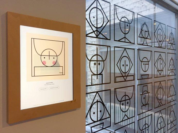 Ondrej Jób urobil okrem mobilnej aplikácie aj mozaiku portrétov, ktorá je súčasťou výstavy Fulla - inšpirácie a interpretácie v ružomberskej Galérii Ľudovíta Fullu. Foto - archív O.J.