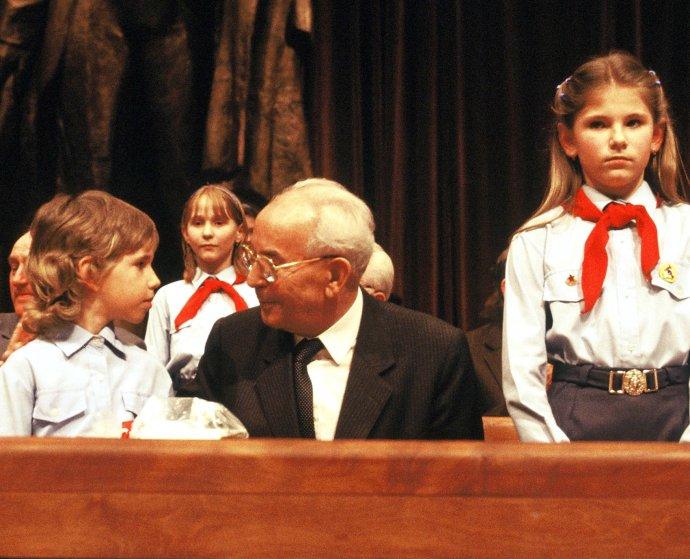 Gustáv Husák v Dome Revolučného odborového hnutia (ROH) v Bratislave 13. marca 1986 na zjazde Komunistickej strany Slovenska. Foto – archív TASR