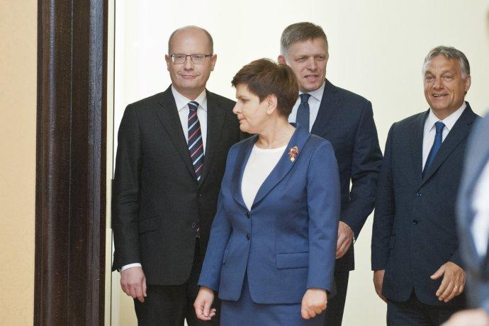 Premiéri krajín V4. Foto – TASR