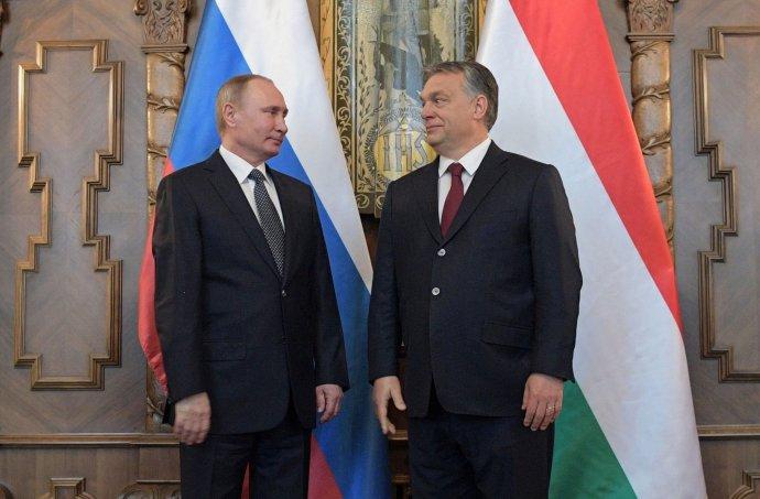 Putin a Orbán v Budapešti. Foto – TASR/AP