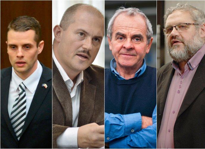 Martin Klus, Marian Kotleba, Ján Lunter a Stanislav Mičev. Foto N – Tomáš Benedikovič a TASR