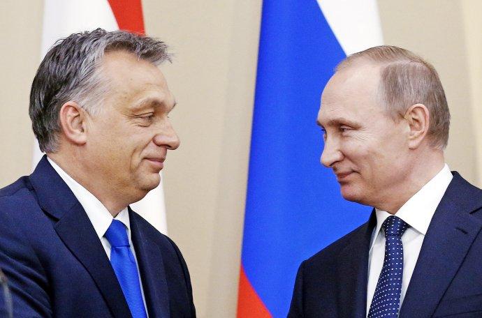 Orbán a Putin. Foto - TASR/AP