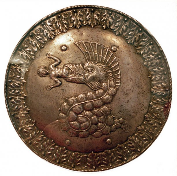 Shield bearing the arms of the Visconti