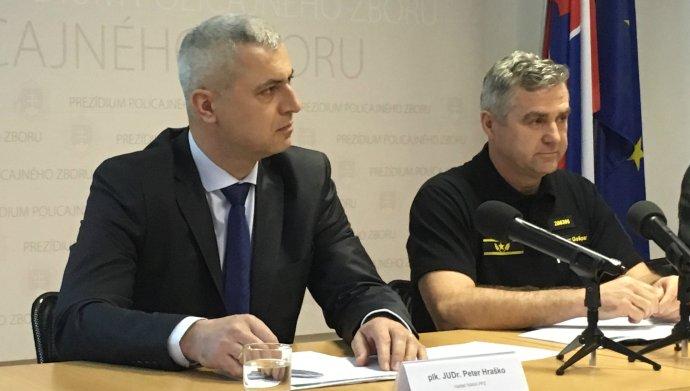 Šéf NAKA Peter Hraško a policajný prezident Tibor Gašpar. Foto N – Monika Tódová