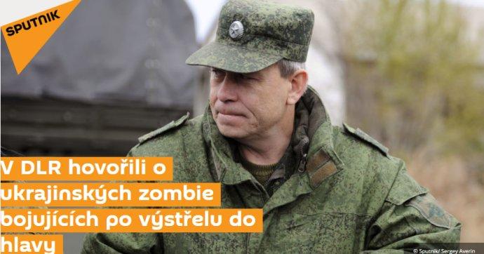 Text agentúry Sputnik o zombie vojakoch na Ukrajine.