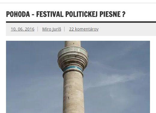Prirovnávanie Pohody ku komunistickým festivalom si v posledných rokoch osvojili aj dezinformačné weby.