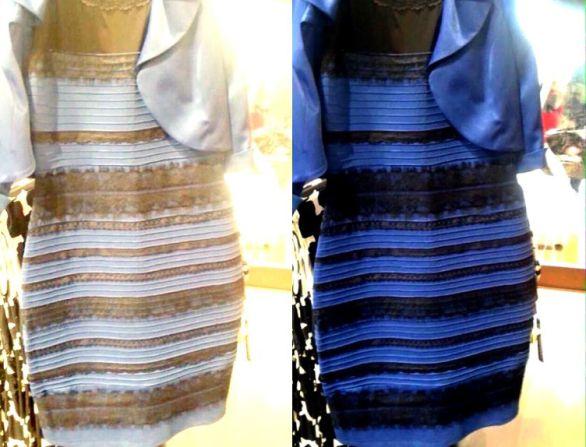 """d5f09b29dd71 Modré a čierne alebo biele a zlaté  Dva roky od vyfotenia """"šiat ..."""