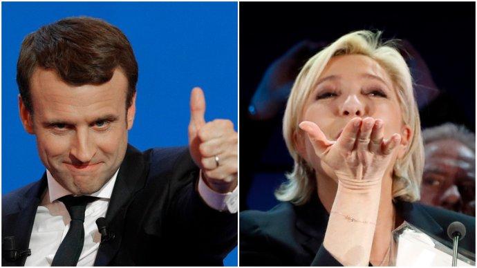 Macron a Le Penová súperia v 2. kole volieb. Foto – TASR/AP