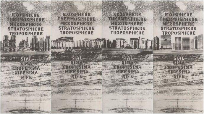 Rudolf Sikora: Zem sa nesmie stať mŕtvou planétou. Fotokoláž, 1972. SNG