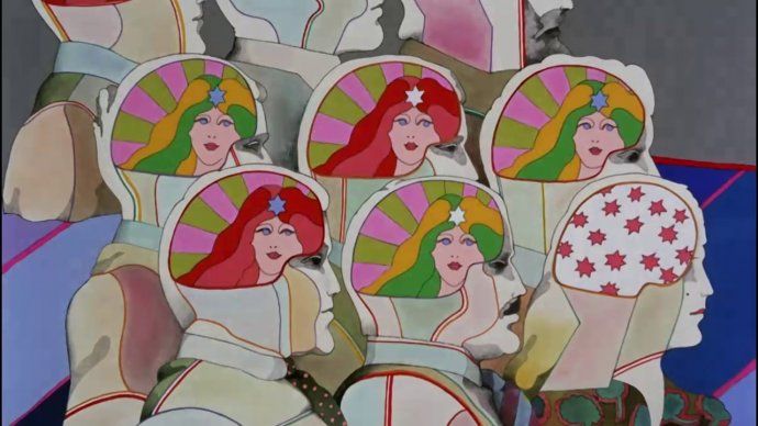 Sekvencia z klipu The Beatles – Lucy in the Sky with Diamonds. Foto – Wikipédia