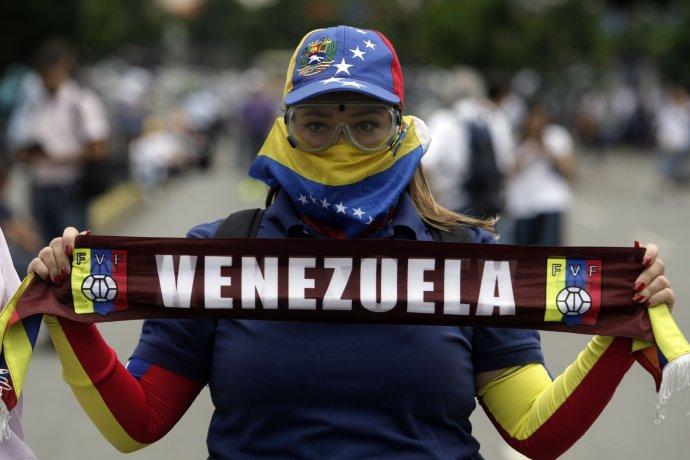 Protesty vo Venezuele. Foto – TASR/AP