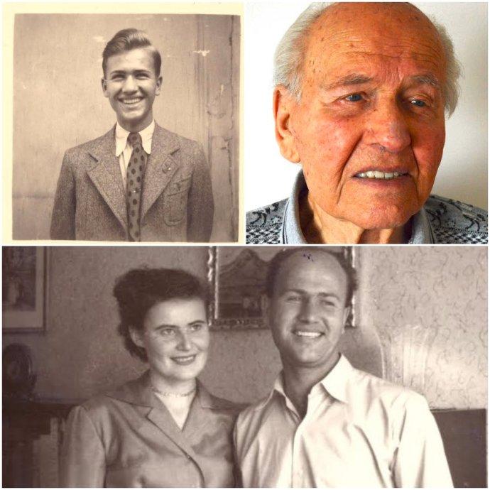 Josef Slepička – ako študent, dôchodca a na zábere s manželkou. Foto – archív Josefa Slepičku