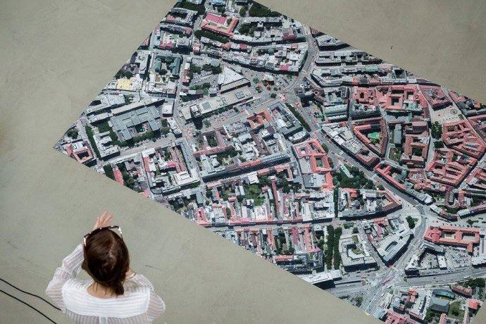 Mapa, s ktorou sa pracovalo počas workshopu WhatCity?. Foto – Braňo Bibel