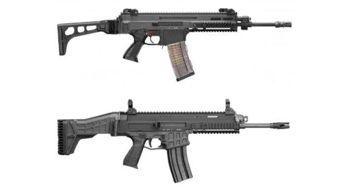 Hore puška CZ 805 BREN, ktorú uviedli v roku 2010, dole puška CZ BREN 2, ktorú prvýkrát predstavili v roku 2015. Foto – CZUB