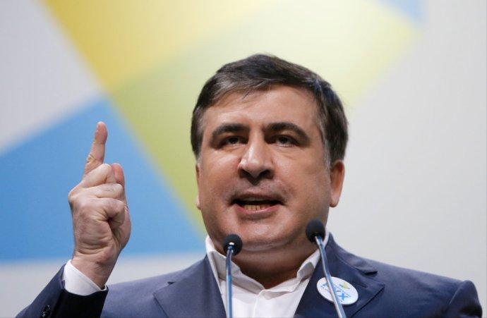 Bývalý gruzínsky prezident a guvernér ukrajinskej Odeskej oblasti Michail Saakašvili. foto – tasr/ap
