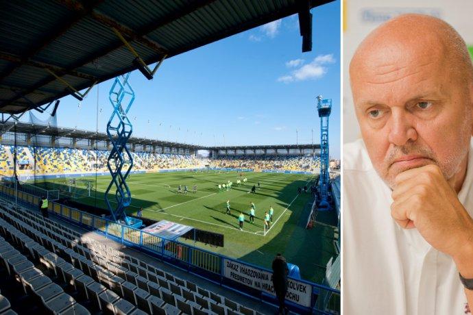 Nový štadión v Dunajskej Strede a Oszkár Világi. Foto – TASR