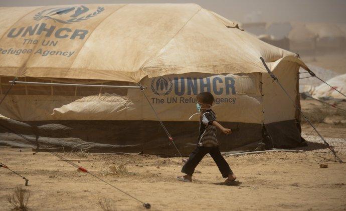 Utečenecký kemp Zaatari. Foto – TASR/AP