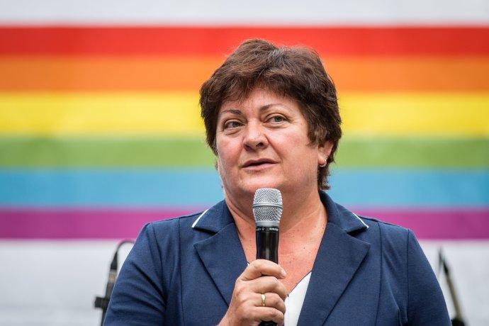 Ombudsmanka Mária Patakyová v roku 2017 na Pride zožala najväčší potlesk. Foto N – Tomáš Benedikovič
