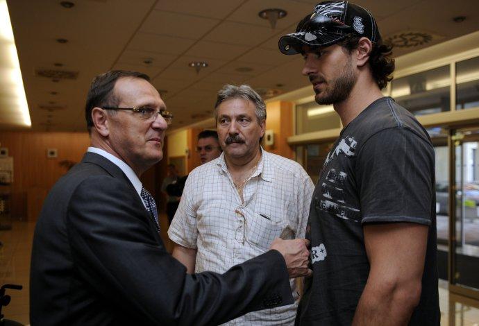 S trénerom Filcom pred odletom na MS 2009. Foto - archív TASR