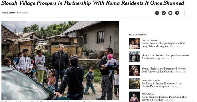 Starosta Spišského Hrhova na fotografii NYT.