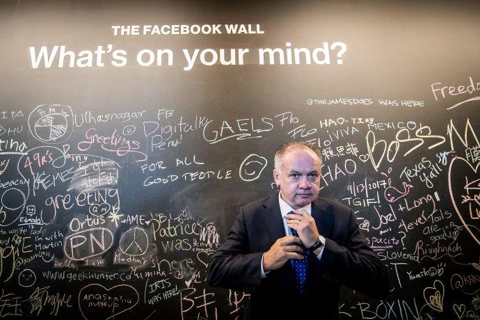 Andrej Kiska počas návštevy centrály spoločnosti Facebook v Menlo Parku v Silicon Valley, USA. Foto N – Vladimír Šimíček